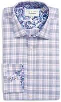 Ted Baker Larsing Plaid Trim Fit Dress Shirt