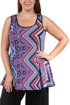24/7 Comfort Apparel Chevron Sleeveless Tunic
