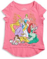 Nannette Girls 2-6x Hi-Lo Cap-Sleeve Princess T-Shirt