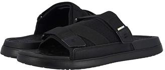 Toms TRVL LITE Sandal (Black/Black Synthetic Nubuck/Textured Mesh Mix) Men's Slide Shoes
