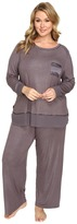 Midnight by Carole Hochman Plus Size Packaged Key Item Pajama