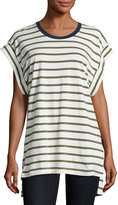 The Fifth Label On Your Mark Striped Tee, Olive