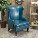 Christopher Knight Home Canterburry High Back Bonded Leather Wing Chair