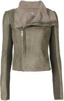 Rick Owens classic biker jacket - women - Lamb Skin/Polyester/Cupro/Lamb Fur - 42