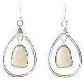 Barse Sterling Silver & African Opal Orbital Teardrop Earrings