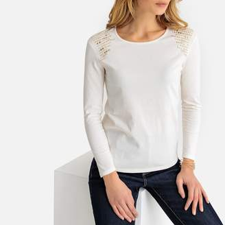Anne Weyburn Crew Neck Long-Sleeved T-Shirt