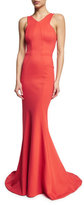 Zac Posen Sleeveless Fit-&-Flare Gown, Coral