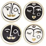 Jonathan Adler Set of Four Marseilles Porcelain Coasters