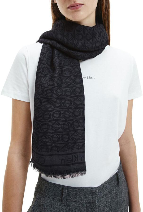 Calvin Klein Mono Jacquard Scarf
