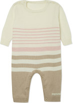 Natures Purest Striped sleepsuit 0-3 months