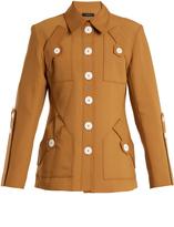 Ellery Starlight point-collar wool-blend jacket