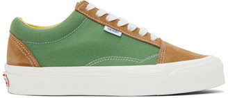 Vans Green and Tan NS OG Old Skool LX Sneakers