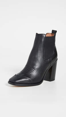 Off-White High Heel Cowboy Booties