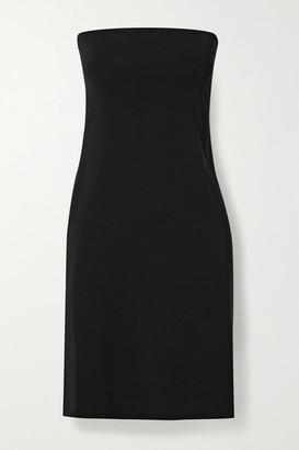 The Row Ferren Strapless Stretch-jersey Dress - Black
