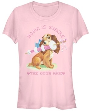 Fifth Sun Women's Lady and the Tramp Home Dog Short Sleeve T-shirt