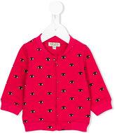 Kenzo eye detail zip-up cardigan - kids - Cotton - 6 mth