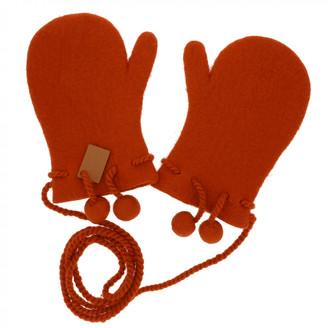 Hermes Orange Cashmere Gloves