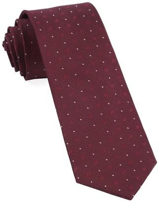 Tie Bar Geo Key Burgundy Tie