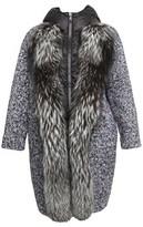Moncler Women's Grey Wool Coat.