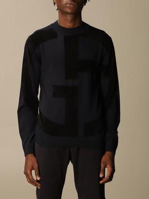 Giorgio Armani Sweater Sweater In Virgin Wool With Big Logo