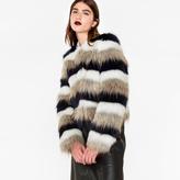 Paul Smith Women's Striped Faux-Fur Jacket