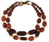 Erickson Beamon Double Strand Bead Necklace