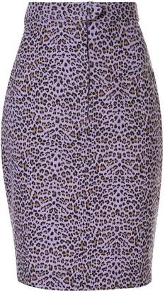 Bambah Leopard Print Skirt