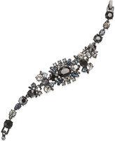 Givenchy Hematite-Tone Drama Crystal Bracelet