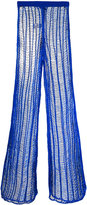 Balmain long ladder stitch trousers