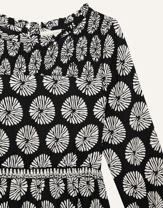 Monsoon MINI ME Ella Circle Print Dress Black