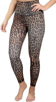 90 Degree By Reflex Animal Print High Waist Leggings