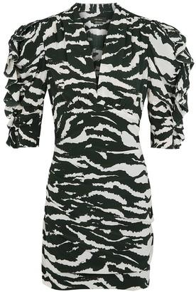 Isabel Marant Farah Monochrome Silk-blend Mini Dress