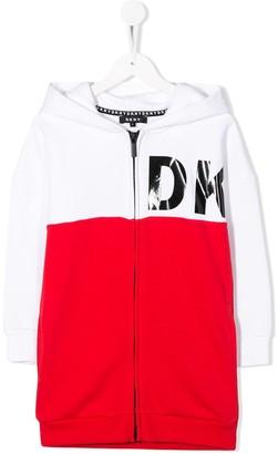 DKNY Two-Tone Zip-Up Jacket