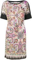 Etro belted paisley dress - women - Polyamide/Viscose - 44