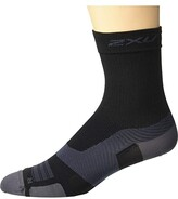 2XU VECTR Ultralight Crew Socks (Black/Titanium) Crew Cut Socks Shoes
