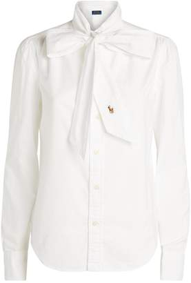 Polo Ralph Lauren Cotton Tie-Front Blouse
