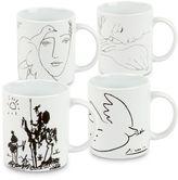 Konitz Picasso Mugs in White (Set of 4)