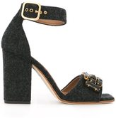 Marni embellished sandals - women - Leather/Lambs Wool - 37