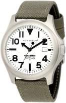 Momentum Men's 1M-SP00W6G Atlas White Dial Khaki Cordura Watch