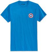 Mighty Fine Men's Captain America Logo T-Shirt