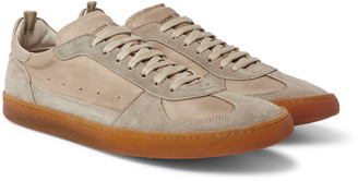 Officine Creative Kareem Suede And Full-Grain Leather Sneakers