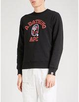 A Bathing Ape Union Jack Logo-print Cotton-jersey Sweatshirt