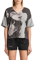 AllSaints Reality Ada T-Shirt, Light Grey Marl