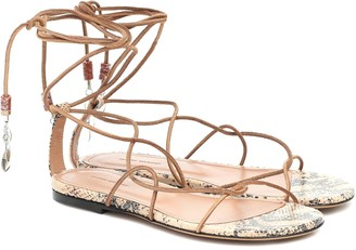 Isabel Marant Jindia beaded suede sandals