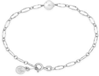 Majorica Sterling Silver & Faux Pearl Chain Bracelet