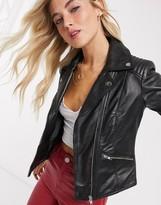 Barneys New York Barneys Originals leather biker jacket