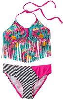 Big Chill Girls 4-16 Fringe Tankini & Scoop Bottoms Swimsuit Set
