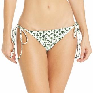 Milly Women's Palm Print Fiji String Bikini Bottom