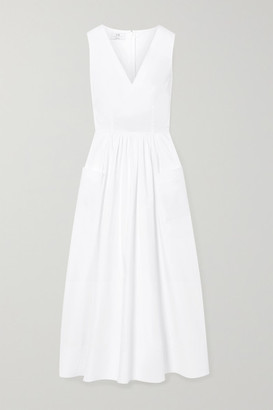 Co Cotton-poplin Midi Dress - White