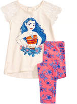 Disney Disney's Moana 2-Pc. Lace-Sleeve Tunic & Leggings Set, Toddler Girls